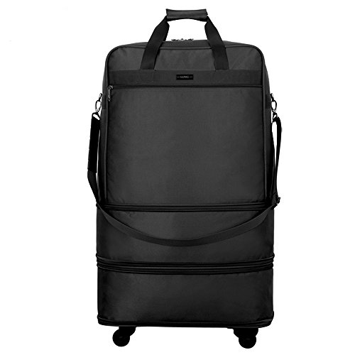 Hanke Expandable Foldable Suitcase Luggage Rolling Travel Bag Duffel Garment Tote Bag for Men Women by Hanke (Image #1)
