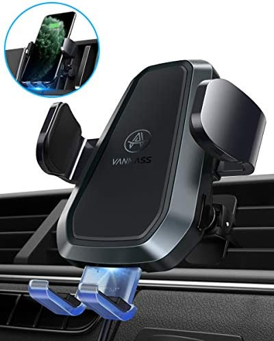 VANMASS Upgraded Qi Wireless Car Charger Mount, Automatic Clamping, 10W 7.5W Fast Charging, Air Vent Car Phone Holder Compatible with iPhone 11 Xs Max XR 8 Plus, Samsung S10 S9 S8 Note 10, LG V30, etc