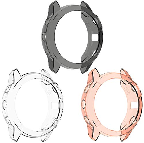 TenCloud Case for Fenix 6X Watch Cover TPU Clear Covers Compatible with Garmin Fenix 6X/6X pro/ 6X Sapphire Multisport GPS Smartwatch Multi