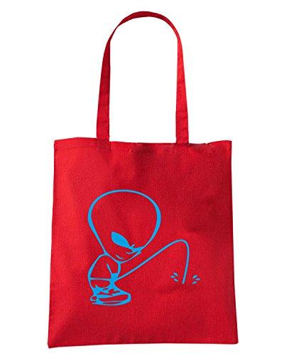 T-Shirtshock - Bolsa para la compra FUN0541 alian 2 peeon your text t2 Rojo