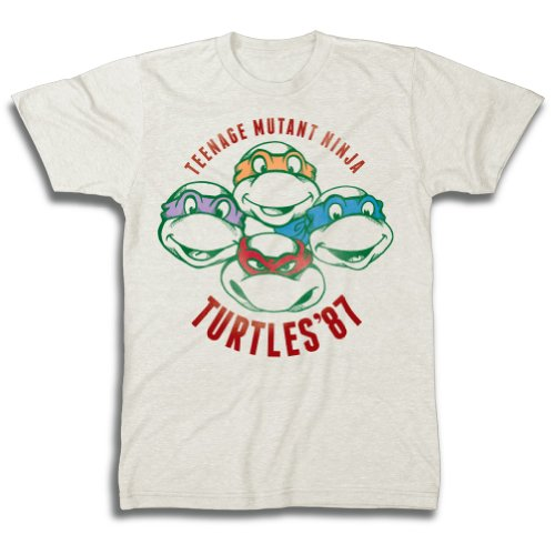 [Teenage Mutant Ninja Turtles '87 Beige Adult T-Shirt (Adult XX-Large)] (Adult Ninja Turtle)