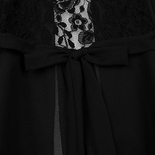 (アルビビ) Alvivi 女性の夏 カーディガン シースルー トップス ショート ボレロ風 ノースリーブ シフォン 花のレース ジャケット 結婚式 パーティー シンプル