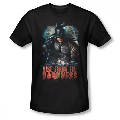 Dark Knight Rises - Rise from the Darkness Men's Slim Fit T-Shirt, Black, 2XL (Catwoman From The Dark Knight Rises)