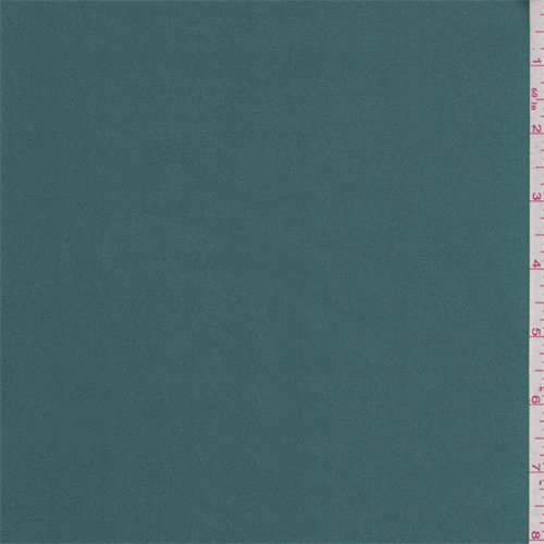 Spruce Green Stretch Satin, Fabric by The Yard