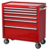 Husky 36 in. 6-Drawer Roller Tool Cabinet, Red