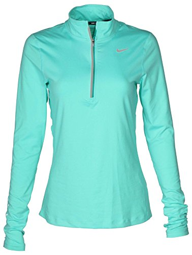 Nike Women's Dry Fit Element Half Zip Running Top (Igloo, (Half Zip Running Top)