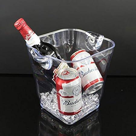 LLKK Cubo de Hielo,Material acrílico Transparente,Duradero,Utilizado para Almacenamiento en frío,cócteles,Bebidas Whisky,4L / 5L