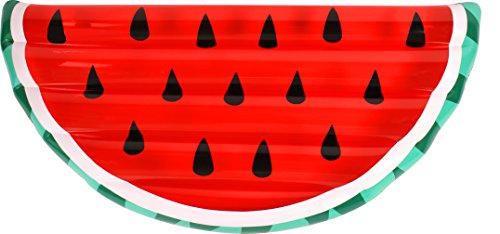 Inflatable Pool Float Giant Watermelon Slice Lounge Toy Summer 68X28 7X7