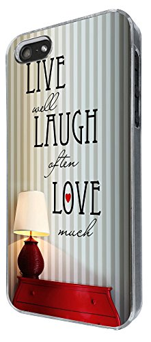 738 - Shabby Chic Live Well Laugh Often Love Much Design iphone 5 5S Coque Fashion Trend Case Coque Protection Cover plastique et métal