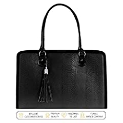 Tired of boring computer bags and work bags for women? Looking for a briefcase for women combining beauty with brains? Your search for the perfect bag is finally over - Introducing the Lindsay 17 inch Laptop Bag for Women by My Best Friend is...