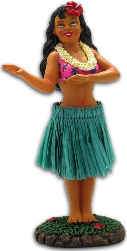 Hawaiian Hula Girl 4'' X 2'' X 1.5'' by KC Hawaii