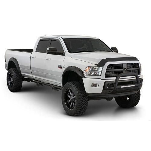 Bushwacker 50921-02 Matte Black Dodge Ram Pocket Style Fender Flare, Set of 4 (Max Coverage) ()