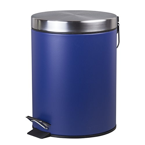 Creative Home Round Step Trash Can, 5 L, Navy