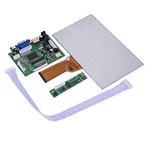 Yosooo Raspberry Pi LCD Screen, 7 inch LCD Display Screen for Raspberry Pi HDMI+VGA+2AV Driver Board