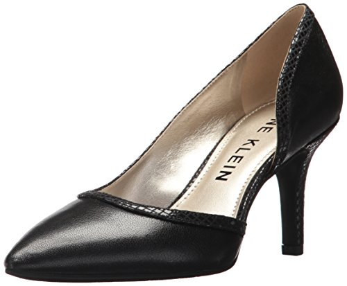 Anne Klein AK Sport Women's Yanci Leather Pump, Black, 7.5 M (Ak Anne Klein Classic Pumps)