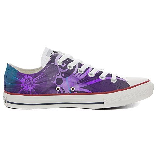 Converse All Star Customized - zapatos personalizados (Producto Artesano) Slim Purple flors
