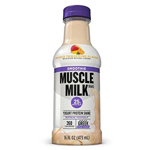 Muscle Milk Smoothie Protein Yogurt Shake, Mango Tangerine, 25g Protein, 15.8 FL OZ, 12 count