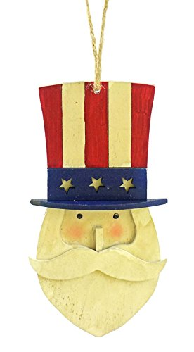 Party Explosions® Uncle Sam Patriotic Hand Painted Hanging Ornament -