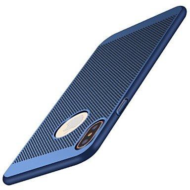Fundas y estuches para teléfonos móviles, para la cubierta del caso heló la caja dura de la contraportada PC dura del color sólido para el iphone 8 de la manzana iphone 7 más el ( Color : Rojo , Model Oro Rosa