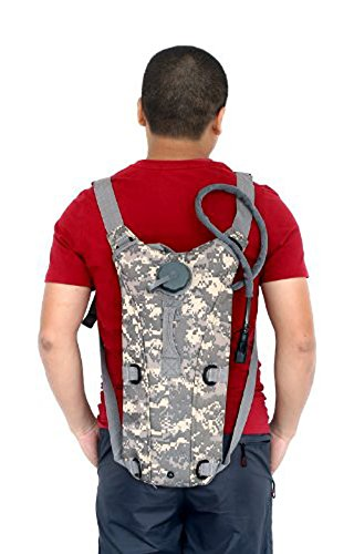 SODIAL(R)2.5L TPU Hydratation System Blase Wasser-Beutel Tasche fuer Rucksack Wandern Klettern-ACU camo