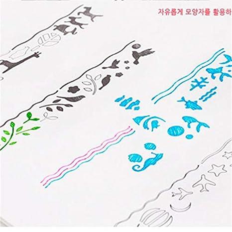 VVDF - Regla de Metal Hueco, diseño de Jaula de pájaros, diseño de pecera para niños, Estudiantes, papelería: Amazon.es: Productos para mascotas