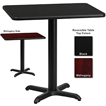 Superbe Amazon.com   Flash Furniture 24 Inch X 30 Inch Rectangular Dining Table W/  Black Or Mahogany Reversible Laminate Top   Tables