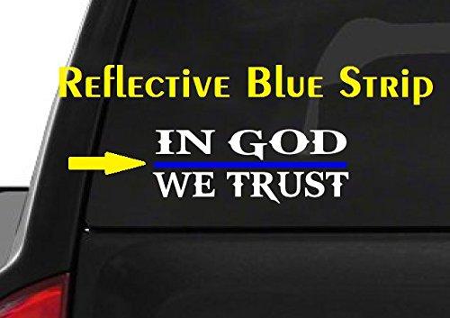 In-God-We-Trust-M50-Thin-Blue-Line-Cop-Police-Sheriff-Trooper-Vinyl-Decal-Sticker-Car-Window