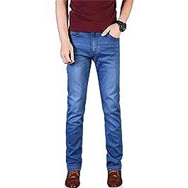 Men's Slim Tapered Jeans Stretch Skinny Jeans Lightweight Jeans