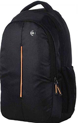 kurainnpvtltd    Cloudo India    Orange Line Waterproof School Bag  Black, Orange, 20 L