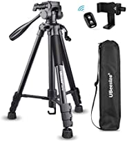 UBeesize 60-inch Camera Tripod, 5kg/11lb Load TR60 Load Portable Lightweight Aluminum Travel Tripod with Carry