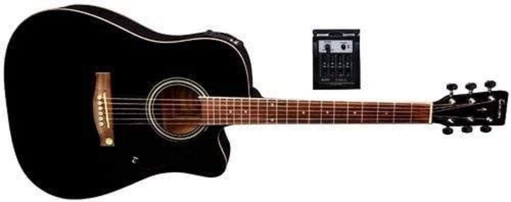 Tenson F501326 - Guitarra electro-acústica D-10CE, color negro
