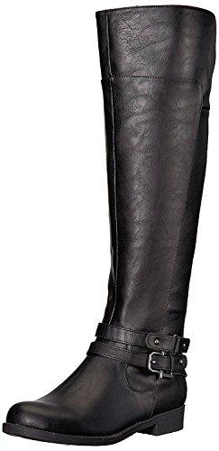 LifeStride Women's Delilah Equestrian Boot, Black, 10 M US by LifeStride