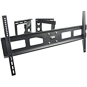 vivo full motion articulating corner wall tv mount bracket for 37 to 63 lcd oled. Black Bedroom Furniture Sets. Home Design Ideas