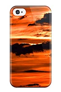 Excellent Iphone 4/4s Case Tpu Cover Back Skin Protector Red Sky At Night Wide