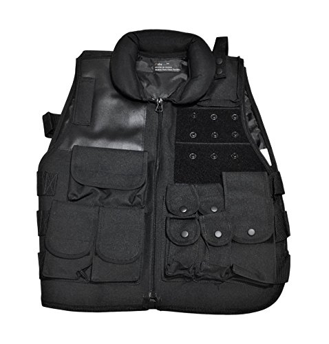 Fidragon Black Tactical Gear Airsoft Vest with Velcro for Patches by Fidragon