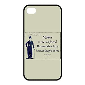 Charles Chaplin 5s Cases TPU Rubber Hard Soft Compound Protective Cover Case for iPhone 5 5s