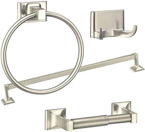 Amazon Com Brushed Nickel 4 Piece Towel Bar Set Bath Accessories Bathroom Hardware 24 Towel Bar Holder Set Home Kitchen