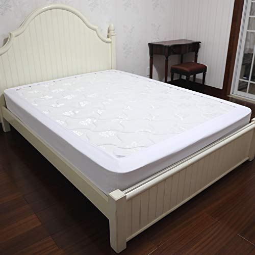 Barossa Design Box Spring Cover Queen Size - Wrap Around Elastic Bed Skirt, Easy on/Easy Off, Wrinkle Resistant, Hotel Quality ()