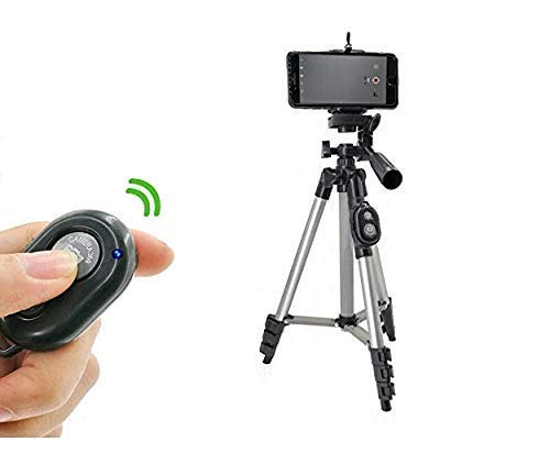 EYUVAA LABEL Camera Tripod Stand with Universal Smartphone Mount and Wireless Bluetooth Remote Control Camera Shutter
