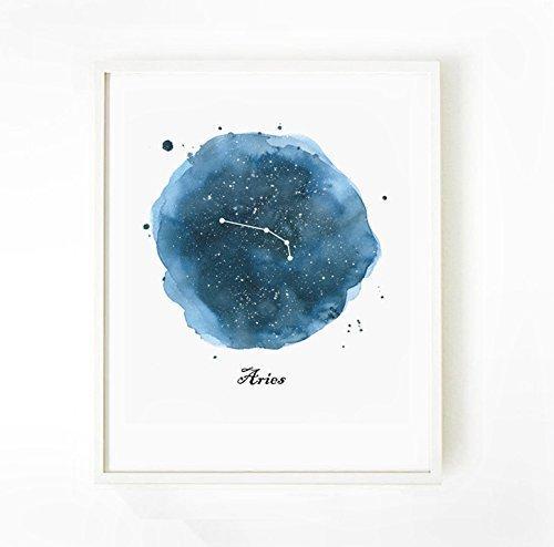 Aries Zodiac Art Print, Aries Zodiac Print, Constellation As
