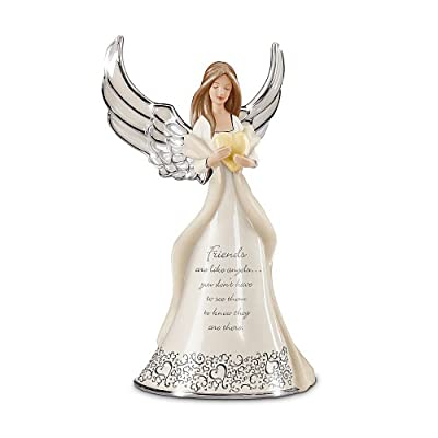 Friends Are Like Angels Musical Figurine Gift by The Bradford Exchange