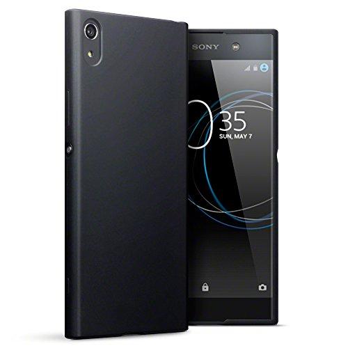 Xperia XA1 Ultra Cover, Terrapin Sony Xperia XA1 Ultra Case - TPU Gel - Slim Design - Durable Shock Absorbing - Back Protector - Solid Black Matte Finish