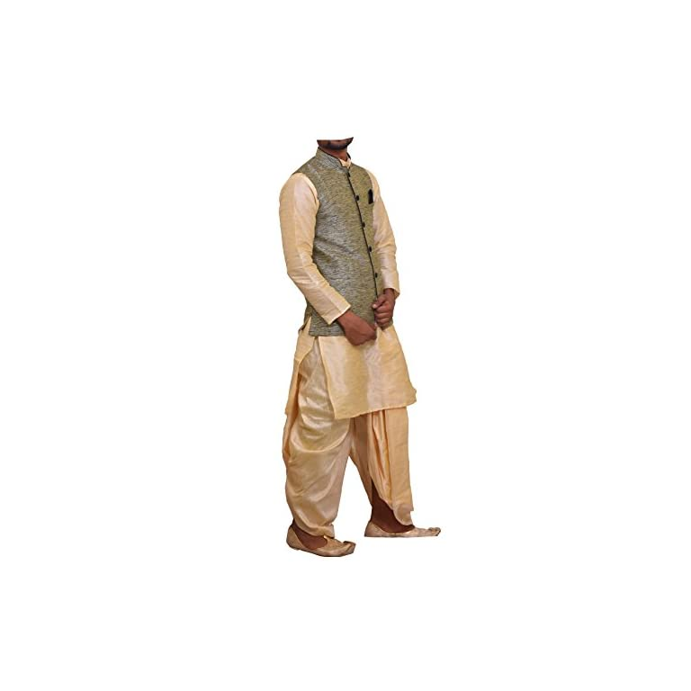 41T AjgXQkL. SS768  - Modern Garments Men Dhoti Kurta with Waistcoat