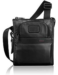 Alpha 2 Small Pocket Crossbody Bag - Leather Satchel for Men and Women -  Black ffe020809b