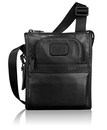 Pocket Computer Brief 2 (TUMI Alpha 2 Leather Pocket Bag Small, Black)