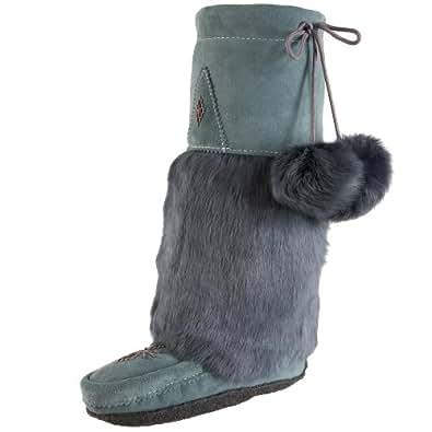 Manitobah Mukluks Women's Original Mukluk Slip-On Fur Boot,TEAL,5 M US
