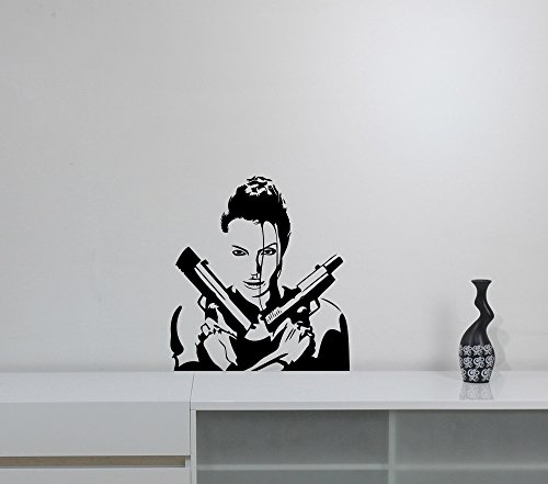 Tomb Raider Wall Decal Video Game Movie Lara Croft Vinyl Sticker Superhero Art Decorations for Home Kids Children's Room Bedroom Decor -