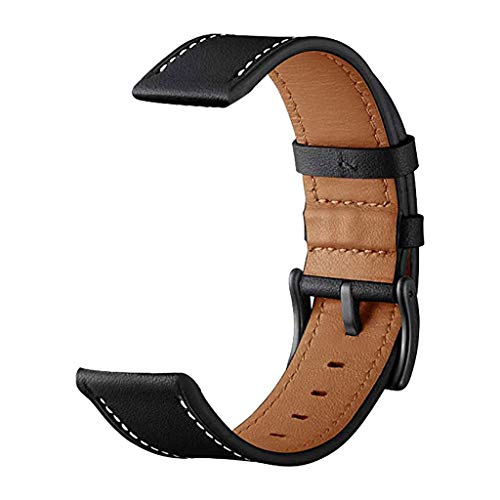 (iZZZHH Leather Replacement Watch Wrist Strap Band For Samsung Galaxy Watch active 20mm)