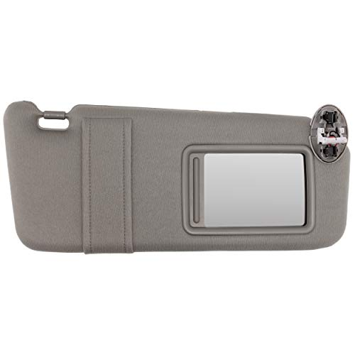 IAMAUTO 14925 New Sun Visor Right Passenger Gray for 2007 2008 2009 2010 2011 Toyota Camry with Sunroof and Light