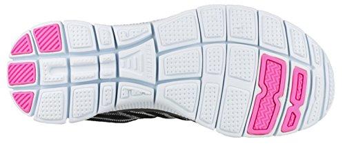 Something Shoes Fun Flex Appeal White Skechers Black Women's Fitness qwfTxnEn7